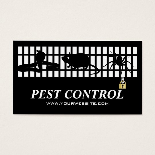 Classic Exterminator Pest Control Iron Grating Business Card