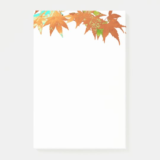 Classic Fall Colours Japanese Maple Leaves Canopy Post-it