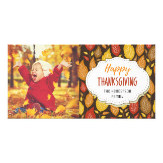 Classic Family Thanksgiving Picture Photo Card