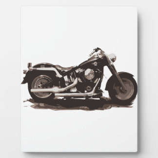 Classic Fat Boy Motorcycle Display Plaque