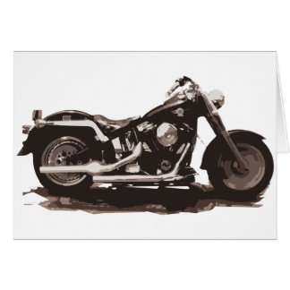Classic Fat Boy Motorcycle Greeting Card