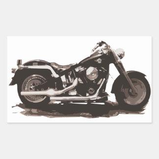 Classic Fat Boy Motorcycle Rectangular Sticker