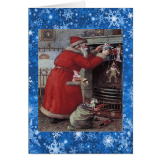 Classic Father Christmas Holiday card