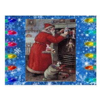 Classic Father Christmas Holiday postcard
