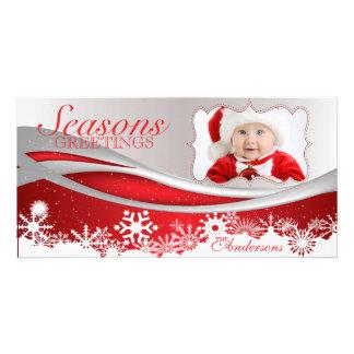 Classic, festive holiday photo card Santa, Bright