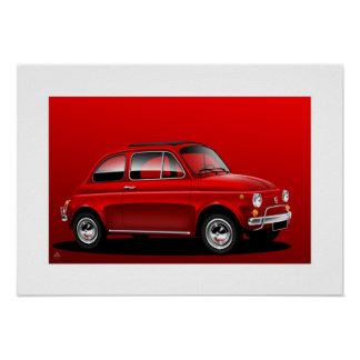 Classic Fiat 500 Posters