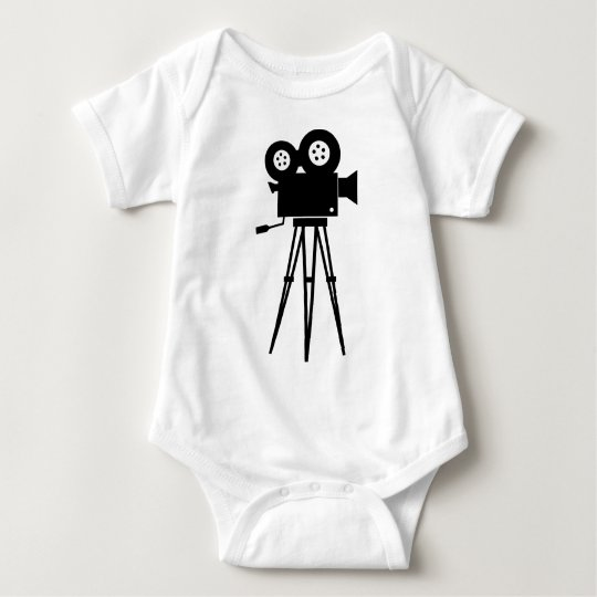 Classic Film Camera Baby Bodysuit