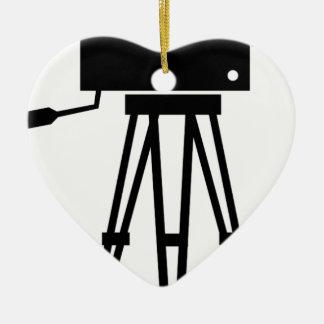 Classic Film Camera Ceramic Heart Decoration