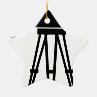Classic Film Camera Double-Sided Star Ceramic Christmas Ornament