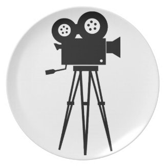 Classic Film Camera Dinner Plates