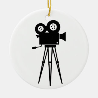 Classic Film Camera Round Ceramic Decoration