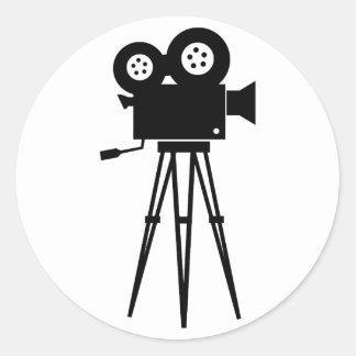 Classic Film Camera Round Sticker