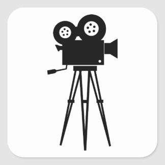 Classic Film Camera Square Sticker