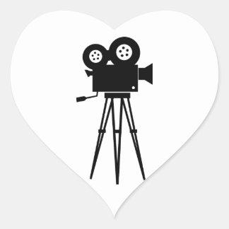 Classic Film Camera Heart Sticker