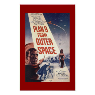 """Classic Film poster """"Plan 9 from Outer Space"""""""