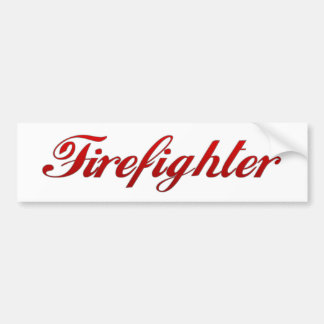 Classic Firefighter Bumper Sticker