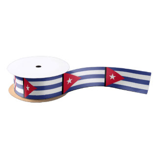 Classic Flag of Cuba Satin Ribbon