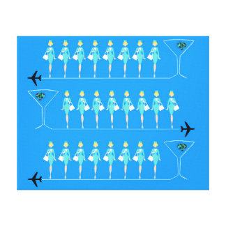 Classic Flight Attendant Stretched Canvas Print