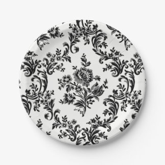 CLASSIC FLORAL BAROQUE PATTERN PARTY PLATE ELEGANT