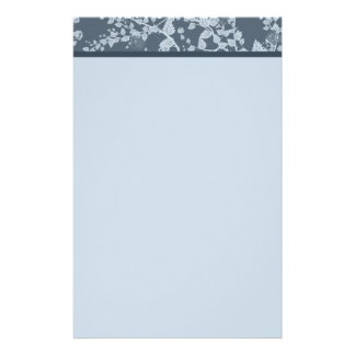 Classic Floral Blue Paper Stationery