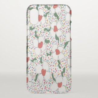Classic Floral Clear iPhone X Deflector Case