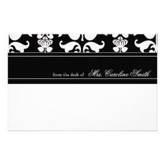 Classic Floral Decorated Personalized Customized Stationery