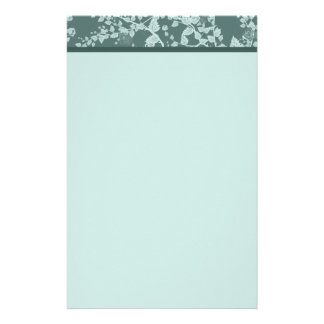 Classic Floral Green Paper Stationery