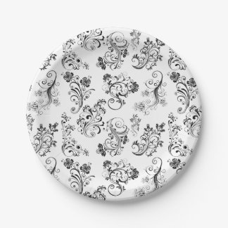 CLASSIC FLORAL PATTERN PARTY PLATES