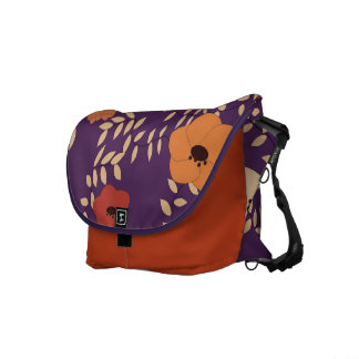 classic floral printing courier bags