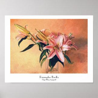 Classic Flower Arrangement floral paint fine art Poster