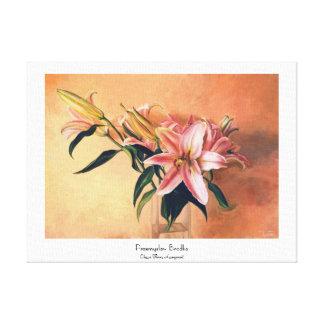 Classic Flower Arrangement floral paint fine art Stretched Canvas Print