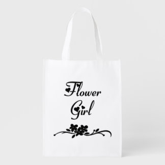 Classic Flower Girl Reusable Grocery Bag