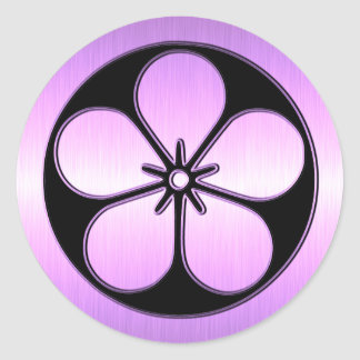 Classic Flower Shape in a Circle Sticker