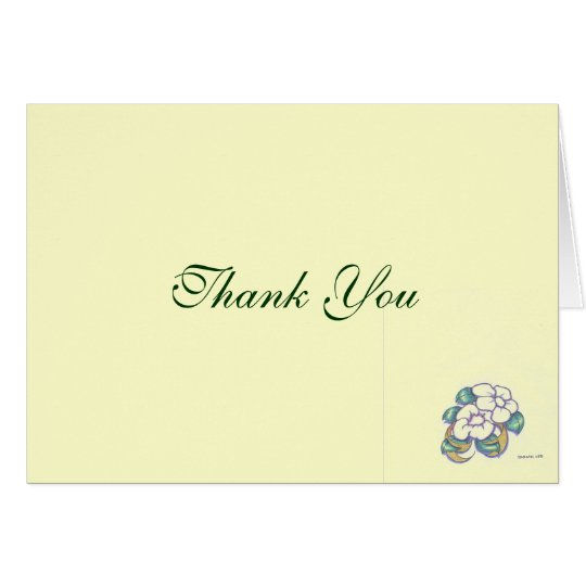 Classic Flower Thank You Card