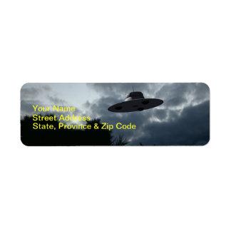 Classic Flying Saucer Label Return Address Label