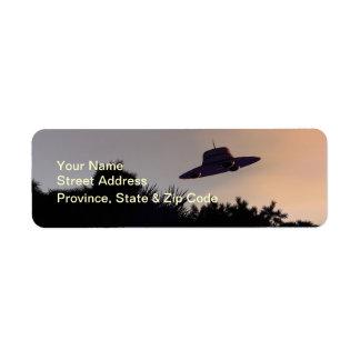 Classic Flying Saucer V2 Label Return Address Label
