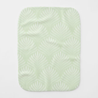 Classic foliage pattern in white and green burp cloth