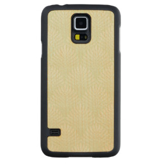 Classic foliage pattern in white and green carved maple galaxy s5 case