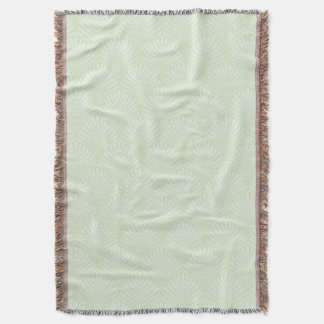 Classic foliage pattern in white and green throw blanket