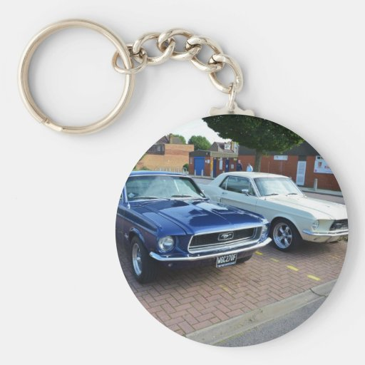 Classic Ford Mustangs Key Chain