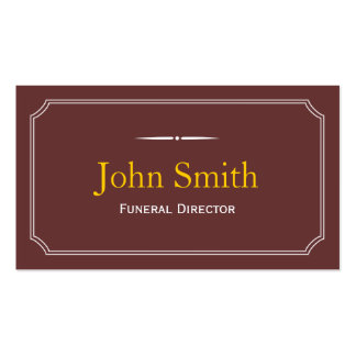 Classic Frame Brown Funeral Business Card