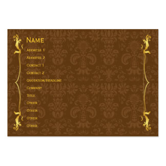 Classic Frame Gold Pack Of Chubby Business Cards