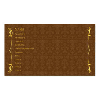 Classic Frame Gold Pack Of Standard Business Cards