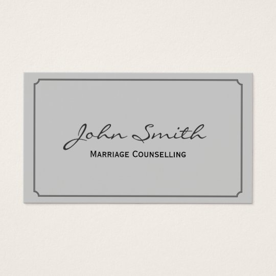 Classic Frame Marriage Counselling Business Card