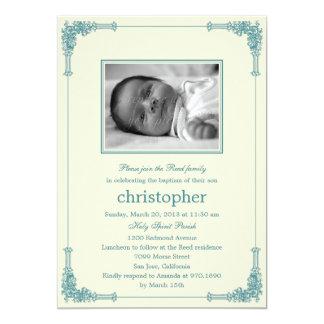 Classic Frame Photo Baptism/Christening Invitation