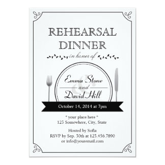 Classic Frame Wedding Rehearsal Dinner Invitations
