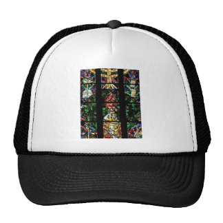 CLASSIC FRENCH STAINED GLASS DESIGN MESH HAT