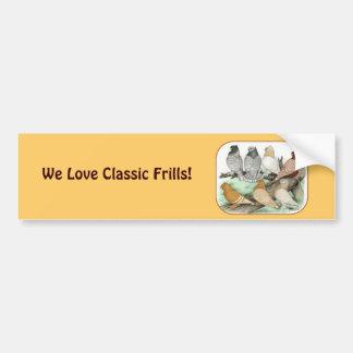 Classic Frill Pigeons Blondinettes Bumper Sticker