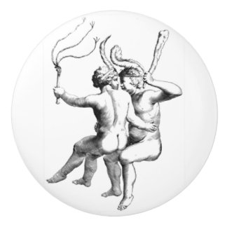 Classic Gemini Illustration door knob