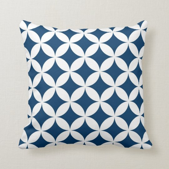 Classic Geometric Circles in Navy Blue and White